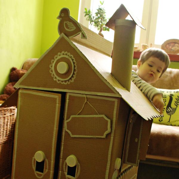 Carton paper house